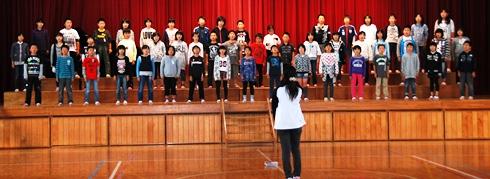 合唱練習4年生